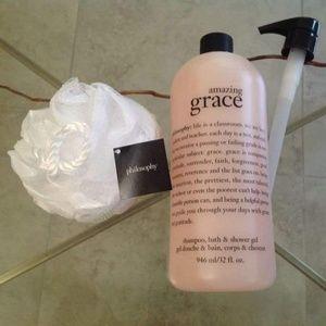 Philosophy AMAZING GRACE Shampoo 32 oz. & Sponge